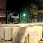 Granite slabs cut and ready to ship inside the quarry