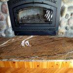 Granite fireplace hearth