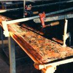 Custom copper edging for granite kitchen counters