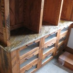 Granite counters on custom closet cabinets